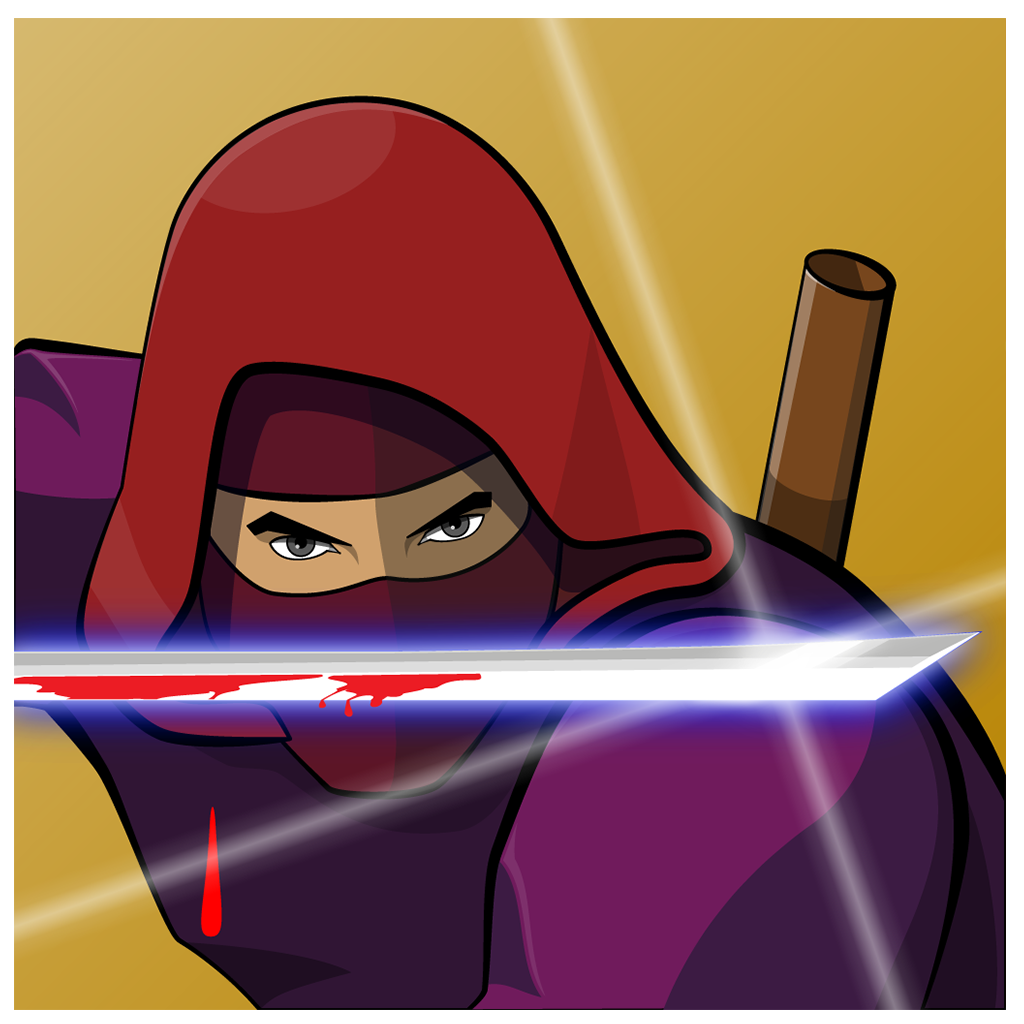 This is an image of the Ninja Scroller The Awakening App Icon in 1024x1024px