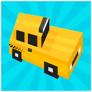This is an image of the Taxi Surfer Endless Arcade Jumper App Icon in 1024x1024px